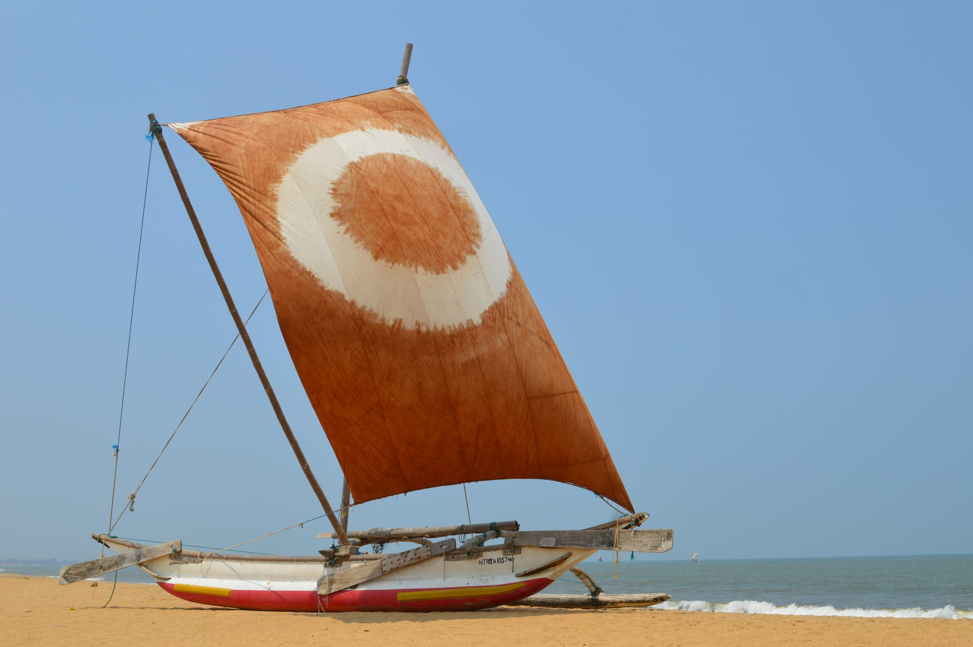 Vissersboot in Negombo