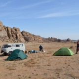 Wildkamperen in Mongolië