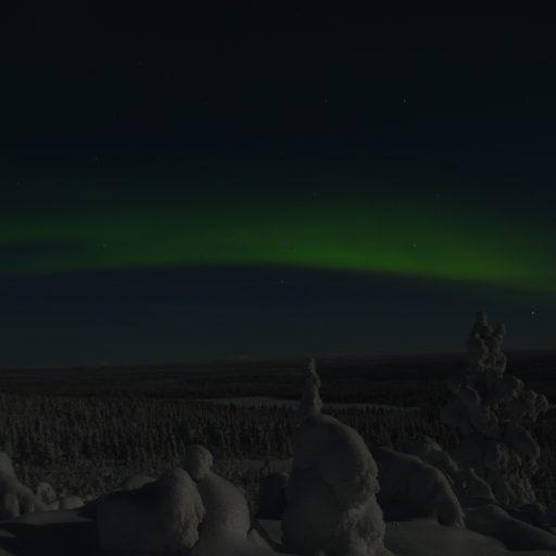 Noorderlicht zien bij Hetta in Lapland