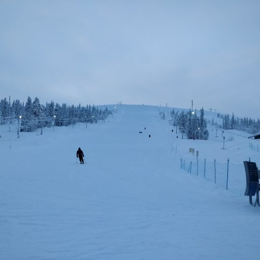 Wintersport in Fins Lapland