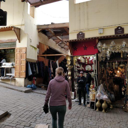 een wandeling in de medina van Fes