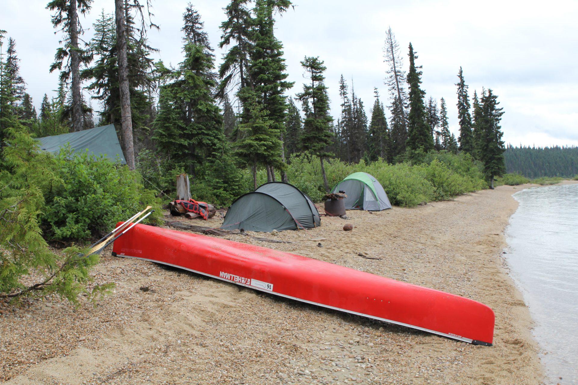 Kano huren voor Murtle Lake - Strait Creek campsite